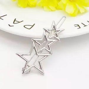 Dainty Silver Stars Hair Pin